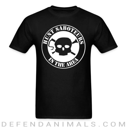 Standard t-shirt (unisex) hunt saboteurs in the area  - Animal rights activism