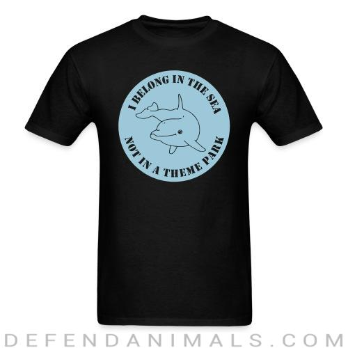 Standard t-shirt (unisex) I belong in the sea not a theme park  - Animal rights activism