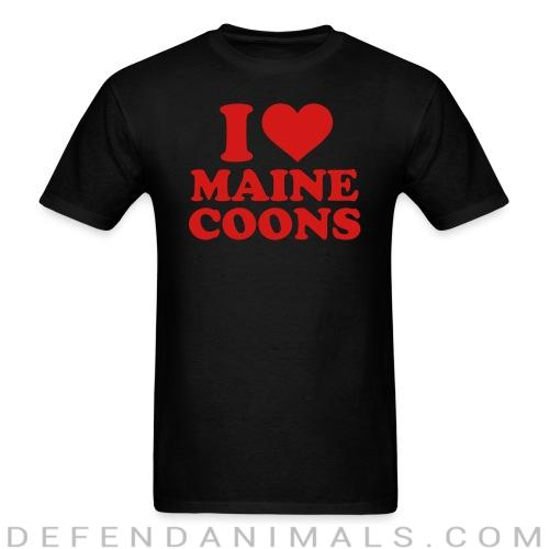 I love maine coons - Cat Breeds T-shirt