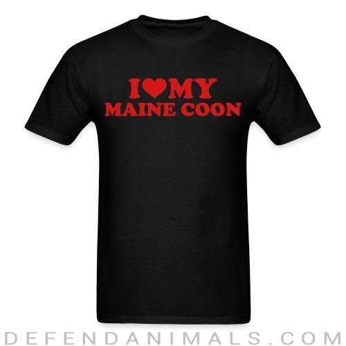 I love my maine coon - Cat Breeds T-shirt