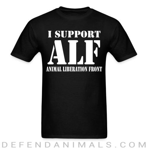 Standard t-shirt (unisex) I support Animal liberation front  - Animal rights activism