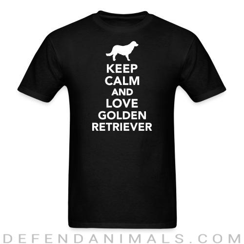 keep calm and love Golden Retriever - Dog Breeds T-shirt