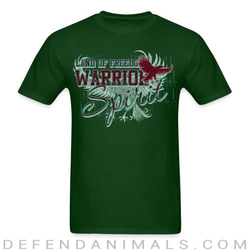 Back print t-shirt Land of freedom Warrior spirit -