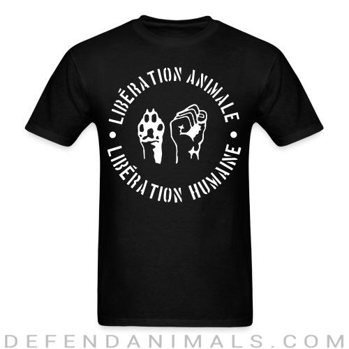 Libération animale - libération humaine - Animal Rights Activism T-shirt