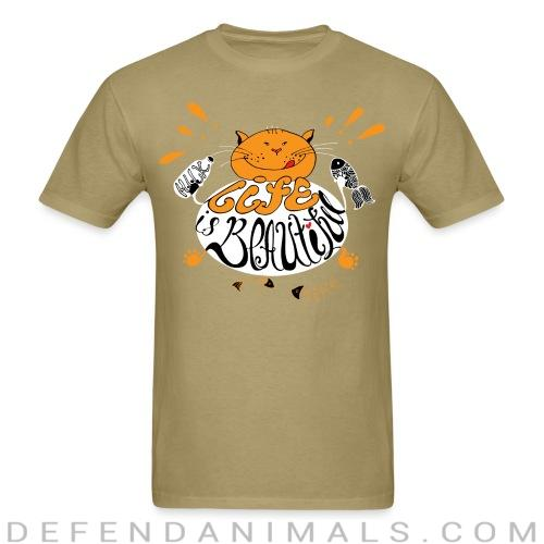 life is beautiful  - Cats Lovers T-shirt