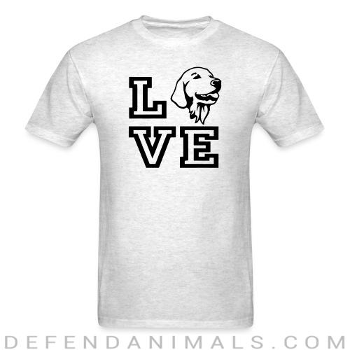 love Golden Retriever - Dog Breeds T-shirt