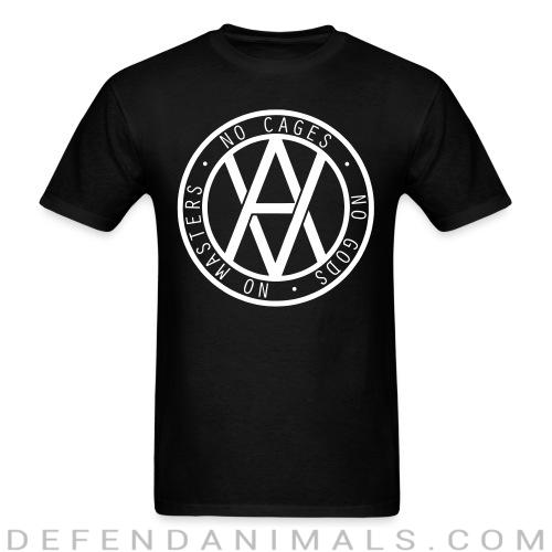 No cages - no gods - no masters - Vegan T-shirt