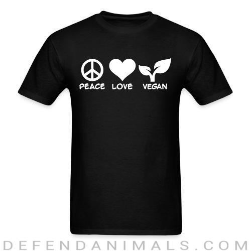 Standard t-shirt (unisex) peace love Vegan   - Vegan Shirts