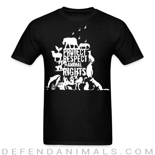 Standard t-shirt (unisex) protect respect animal right  - Animal Rights Activism