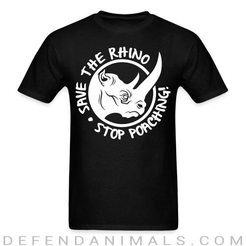 Standard t-shirt (unisex) save the rino stop poaching! - Animal rights activism