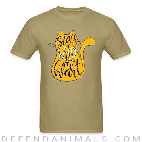 Stay wild a heart  - Cats Lovers T-shirt