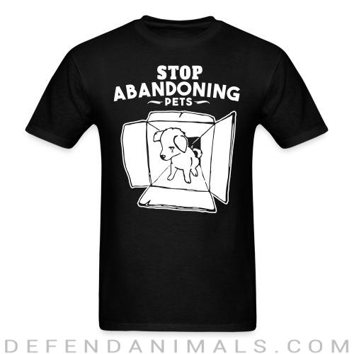 Back print t-shirt Stop abandoning pets  - Animal Rights Activism