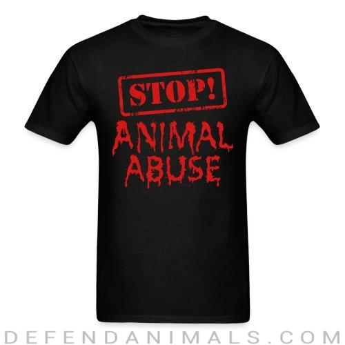 Standard t-shirt (unisex) stop ! animal abuse  - Animal rights activism