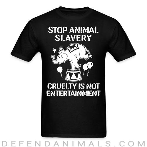 Standard t-shirt (unisex) Stop animal slavary cruelty is not entertainement  - Animal rights activism