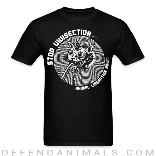 Stop vivisection - animal liberation now!!! - Animal Rights Activism T-shirt