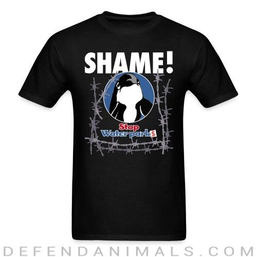 Stop waterparks - Shame! - Animal Rights Activism T-shirt