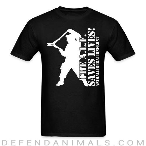 The A.I.F. saves lives! Animal Libeation Front - Animal Rights Activism T-shirt