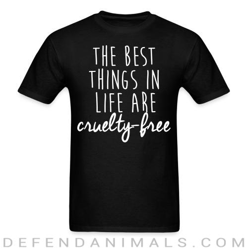 Standard t-shirt (unisex) The best thing in life are cruelty-free  - Animal rights activism