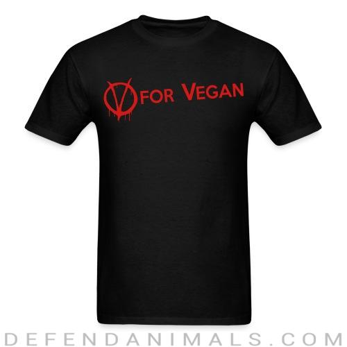V for Vegan - Vegan T-shirt