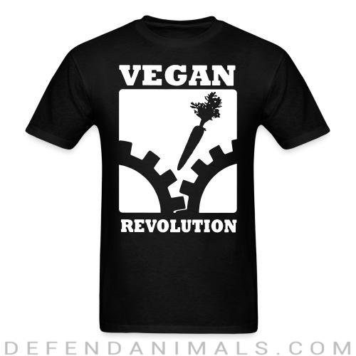 Back print t-shirt Vegan Revolution  - Vegan Backprint Shirts