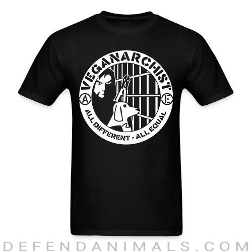 Standard t-shirt (unisex) Vegan anarchist all different all equal - Vegan t-shirts