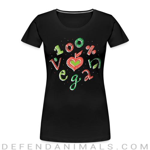 100% Vegan  - Vegan Women Organic T-shirt