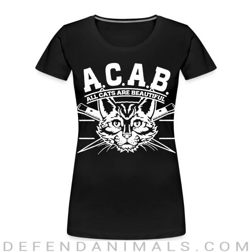 A.C.A.B. All Cats Are Beautiful  - Cats Lovers Women Organic T-shirt