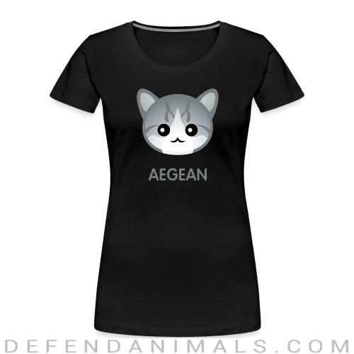 Aegean Cat - Cat Breeds Women Organic T-shirt