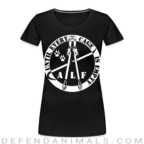 ALF until every cage is empty - Animal Rights Activism Women Organic T-shirt