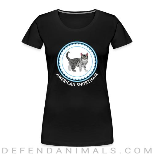 American Shorthair cat - Cat Breeds Women Organic T-shirt