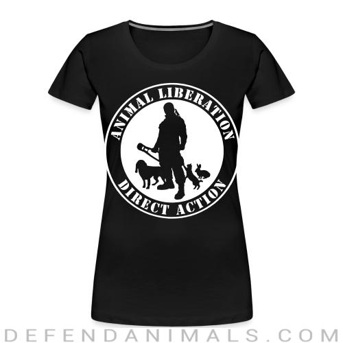 Animal liberation direct action - Animal Rights Activism Women Organic T-shirt