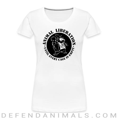 Animal Liberation - Until every cage is empty - Animal Rights Activism Women Organic T-shirt
