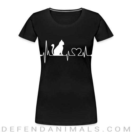 Cat heartbeat - Cats Lovers Women Organic T-shirt