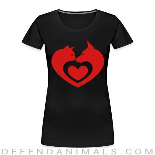 Cats and Dog  - Cats Lovers Women Organic T-shirt