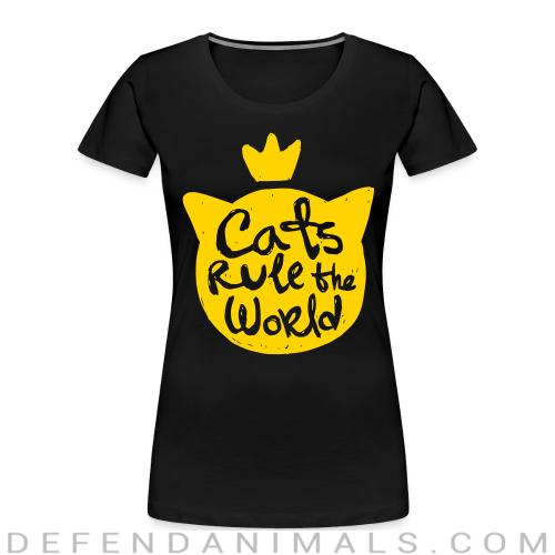 Cats rule the world - Cats Lovers Women Organic T-shirt