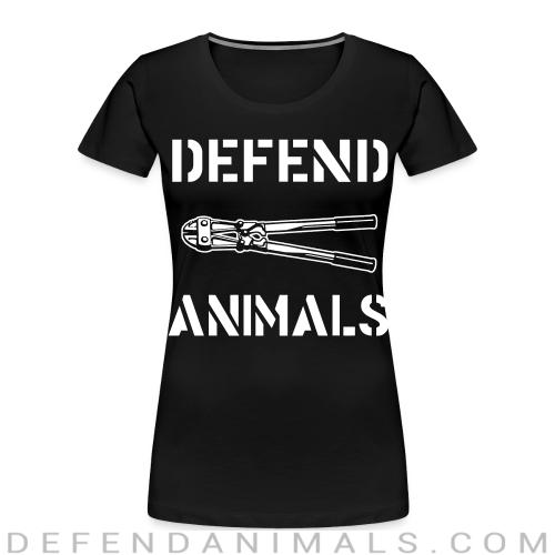 Defend animals - Animal Rights Activism Women Organic T-shirt