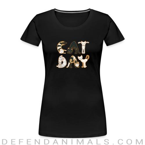 Eat day  - Cats Lovers Women Organic T-shirt