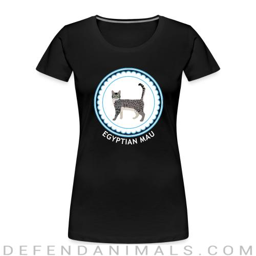 Egyptian Mau Cat - Cat Breeds Women Organic T-shirt