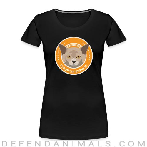 European burmese  - Cat Breeds Women Organic T-shirt