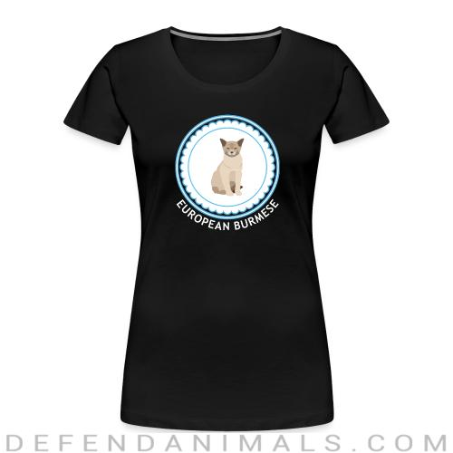 European burmese cat - Cat Breeds Women Organic T-shirt