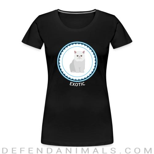 Exotic Shorthair Cat - Cat Breeds Women Organic T-shirt