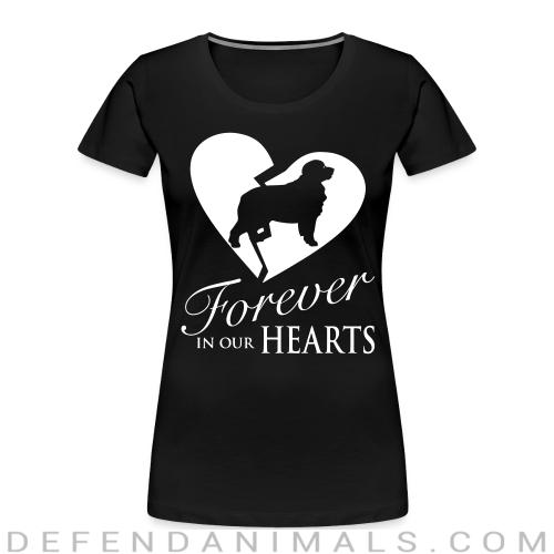 Forever in our hearts - Dog Breeds Women Organic T-shirt