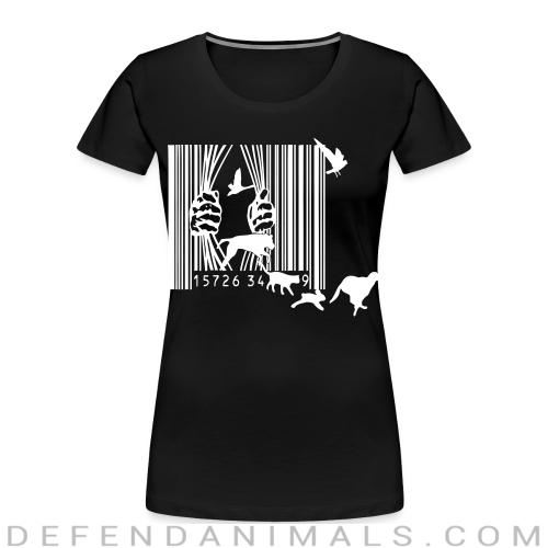 Free the animals liberation  - Animal Rights Activism Women Organic T-shirt