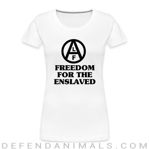 Freedom for the enslaved - Animal Rights Activism Women Organic T-shirt