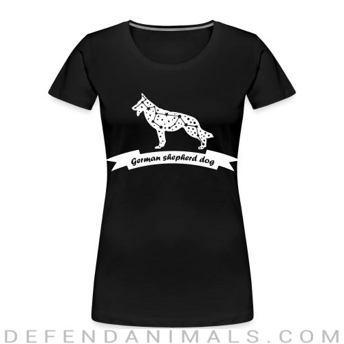German Shepherd Dog - Dog Breeds Women Organic T-shirt