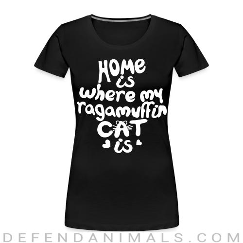 Home is where my ragamuffin cat is - Cat Breeds Women Organic T-shirt