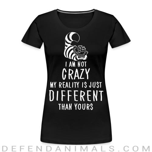 I am not crazy different than yours  - Cats Lovers Women Organic T-shirt