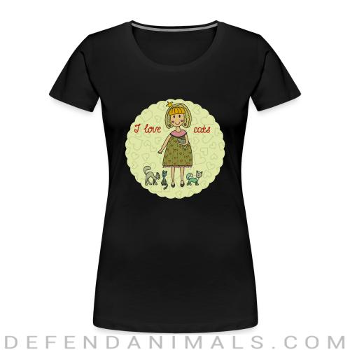 i love cats  - Cats Lovers Women Organic T-shirt