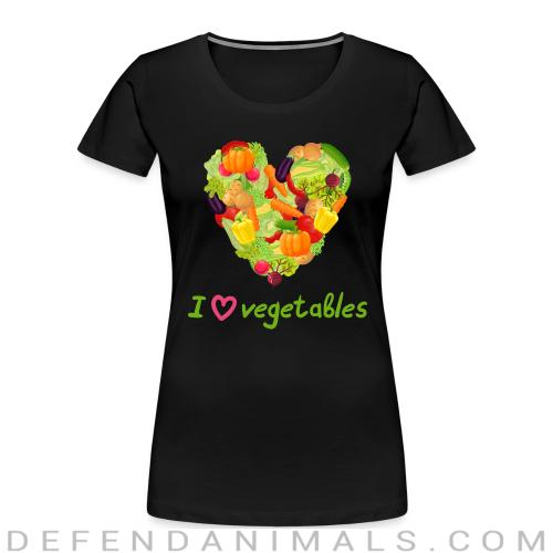 I love vegetables  - Vegan Women Organic T-shirt