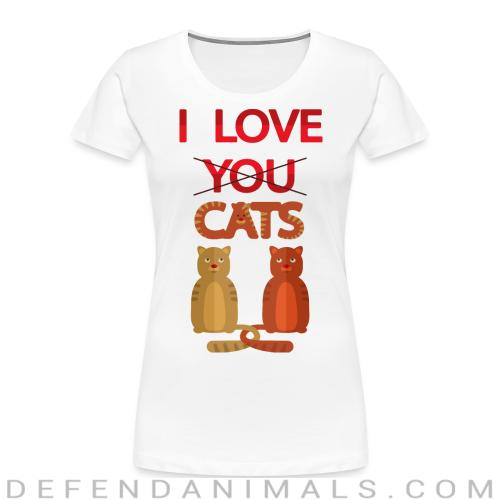 I love you cats  - Cats Lovers Women Organic T-shirt